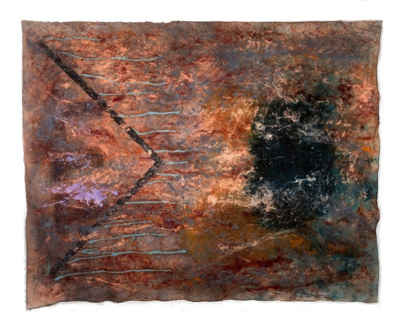 """""""Bleed"""" 64x81 pigment, oil on canvas"""
